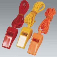 Plastic Whistle with Lanyard - Pack of 3