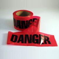 Barricade Tape, Red, DANGER