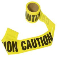 MEE44 Yellow Caution Tape, Emergency Response, Earthquake Safety Kits