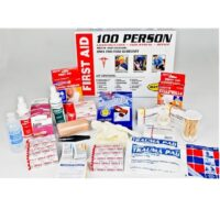 100-person Metal First Aid Cabinet