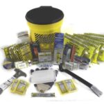 MKEX4P 4-Person Deluxe Emergency Survival Honeybucket Kit with Emergency Toilet, from Sunset Survival and First Aid, Emergency Kits, Disaster Preparedness, Earthquake Kits