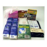 55-pc Sanitation Kit for Emergency Toilet