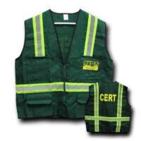 Deluxe CERT Safety Vest, 6-Pocket, Reflective