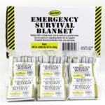 Mylar Survival Blankets Case of 200, Emergency Kits Disaster Supplies