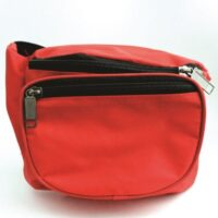 2-Pocket Fanny Pack - Size Small - Red - empty