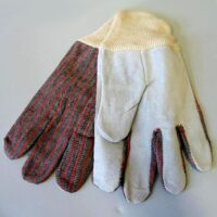 Leather Palm Work Gloves - pair