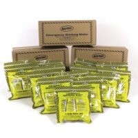 MWA44CS Case of Emergency Water Pouches, 5-year shelf life, Sunset Survival Emergency Kits, School Safety