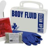Biohazard Body Fluids Clean Up Kit in Plastic Case