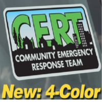 CERT Window Cling - PACK OF 10