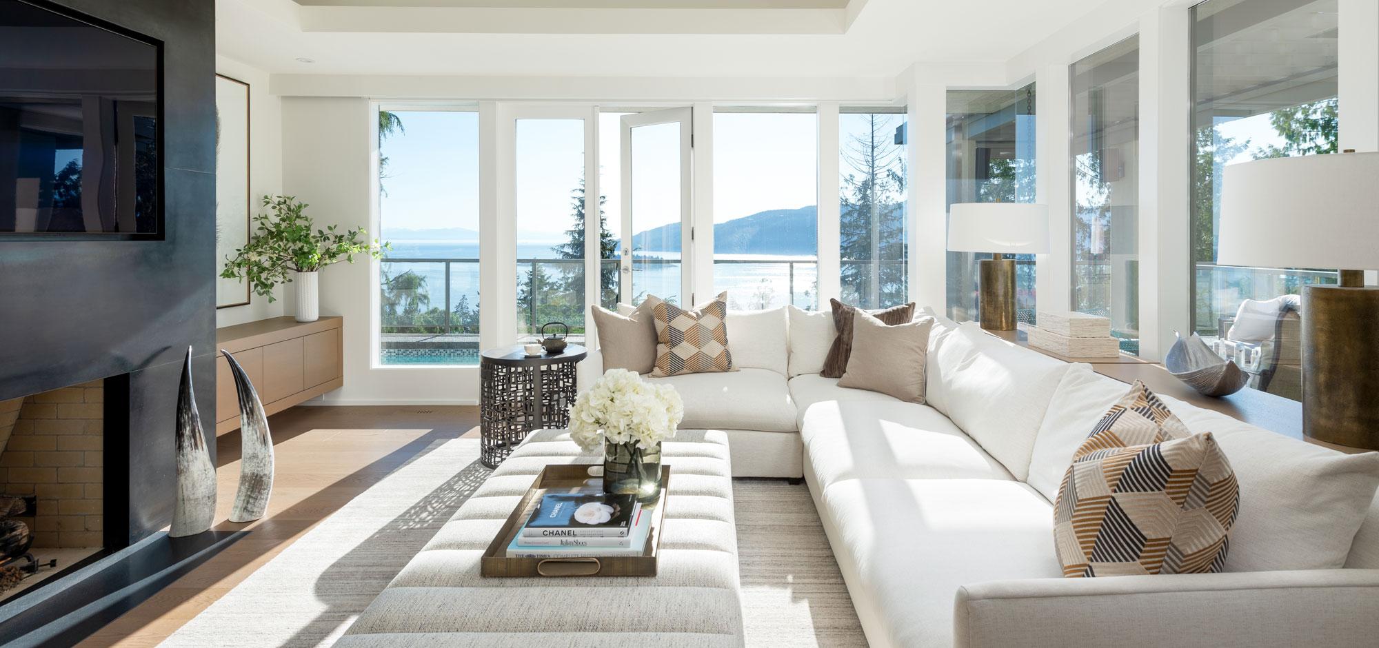White-Themed Modern Living Room
