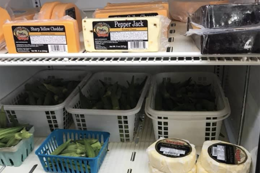 cheese and produce