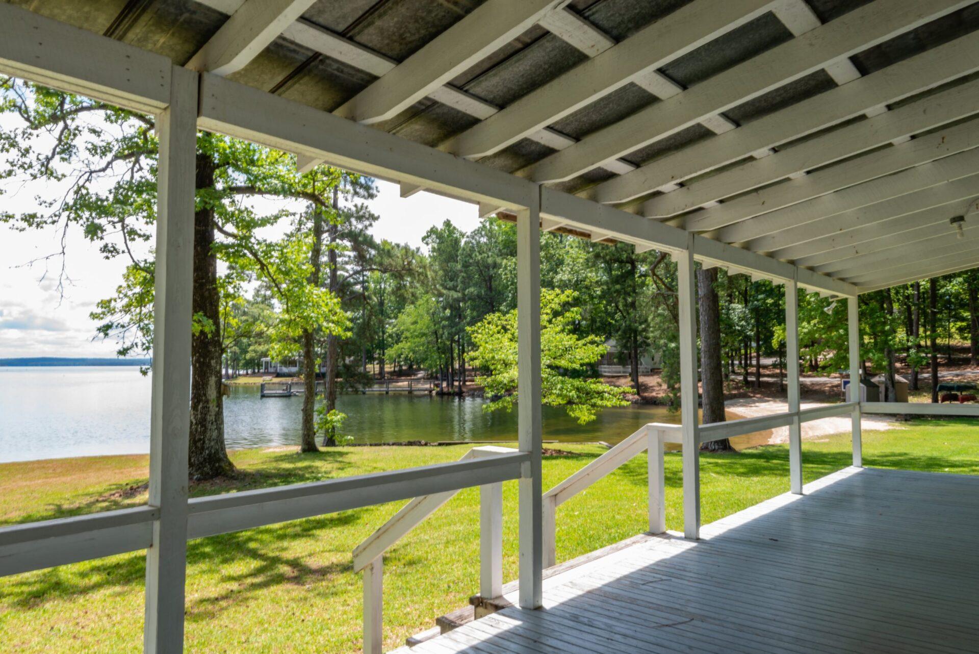 porch and lake view