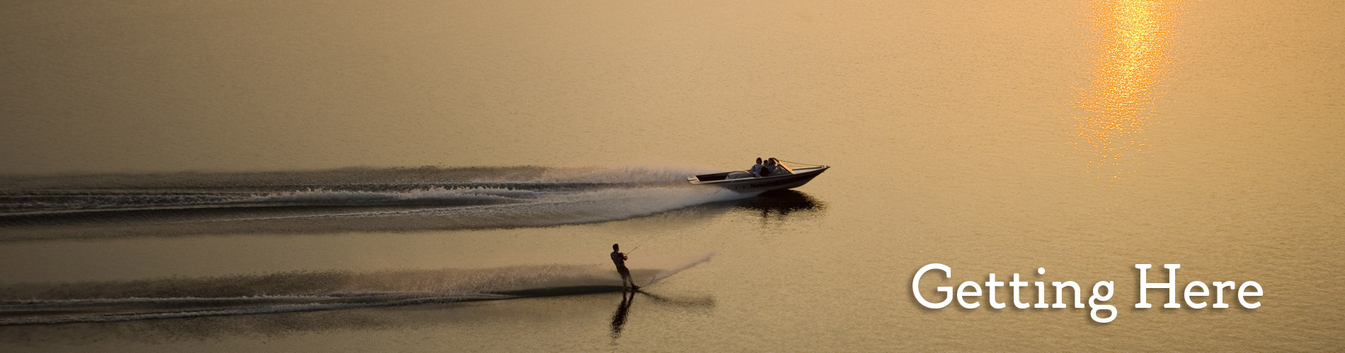 boat and skiier