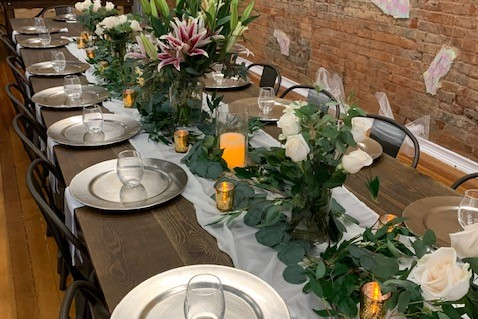 place settings on table