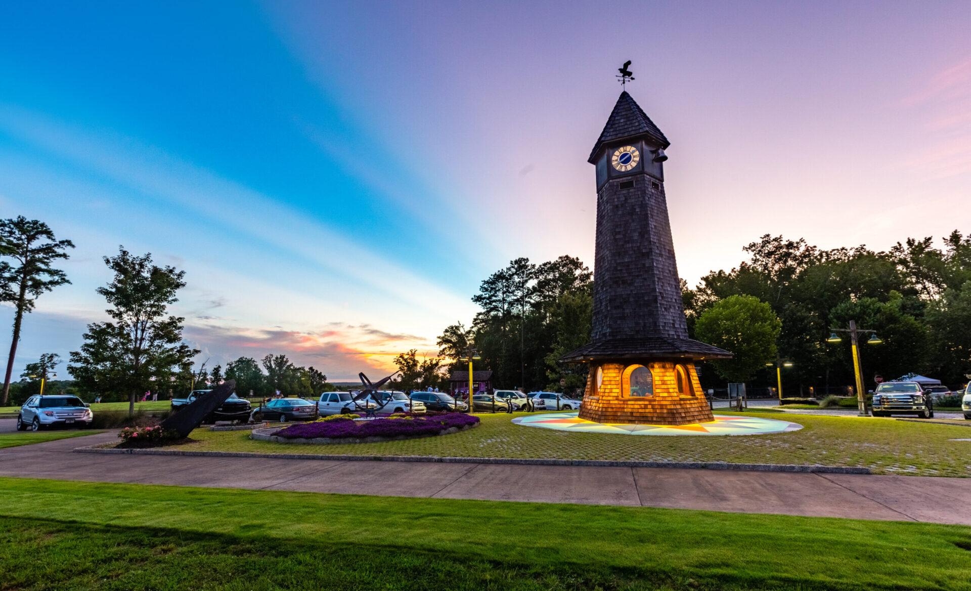 russell crossroads clocktower