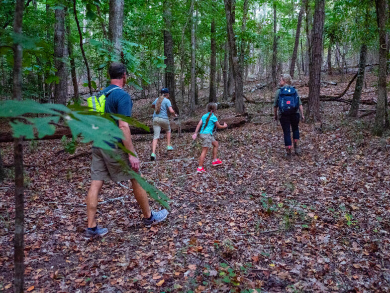 people on trails