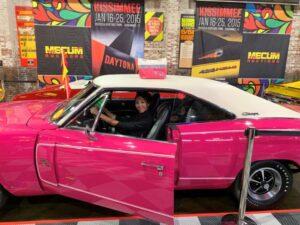 brandy pink car