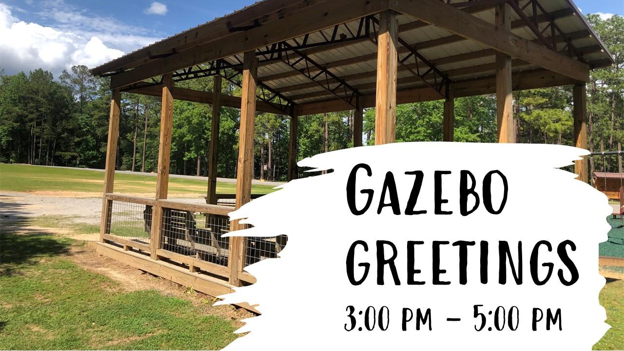 event flyer for gazebo greetings