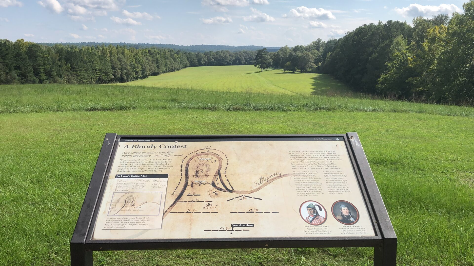 overlook at horseshoe bend national military park