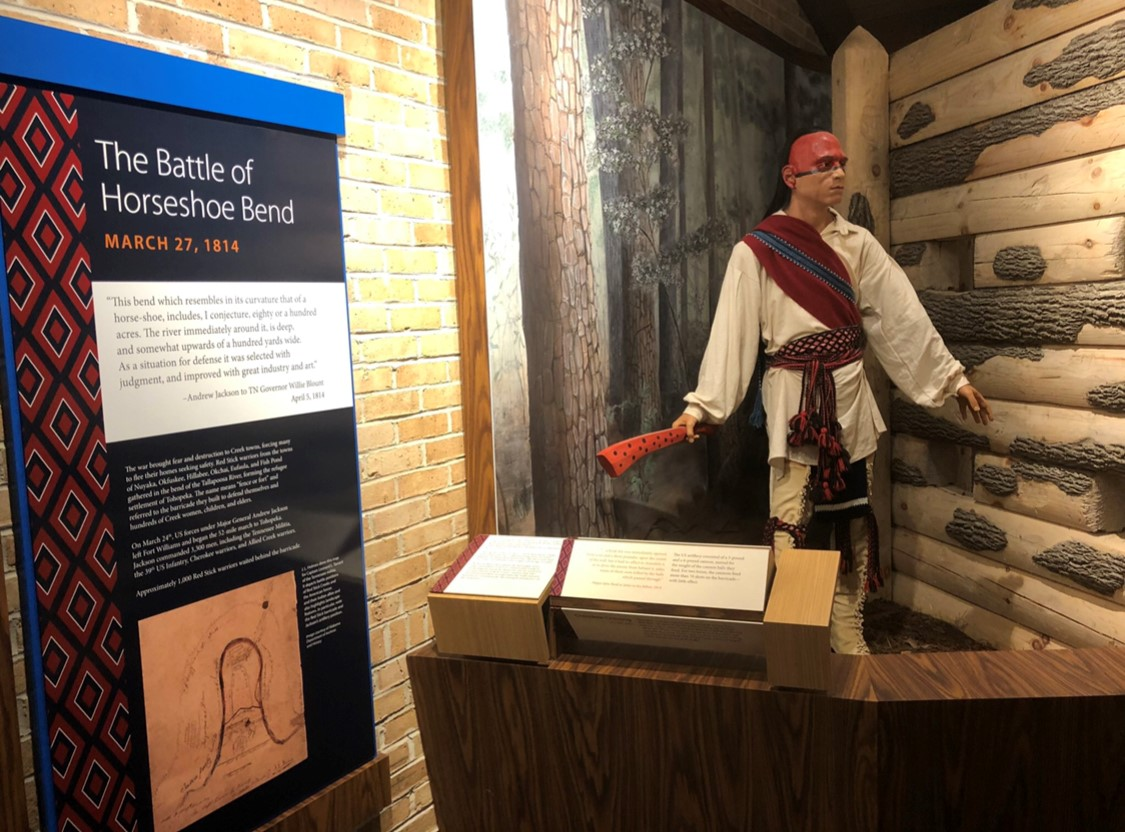 Indian museum display at horseshoe bend national military park