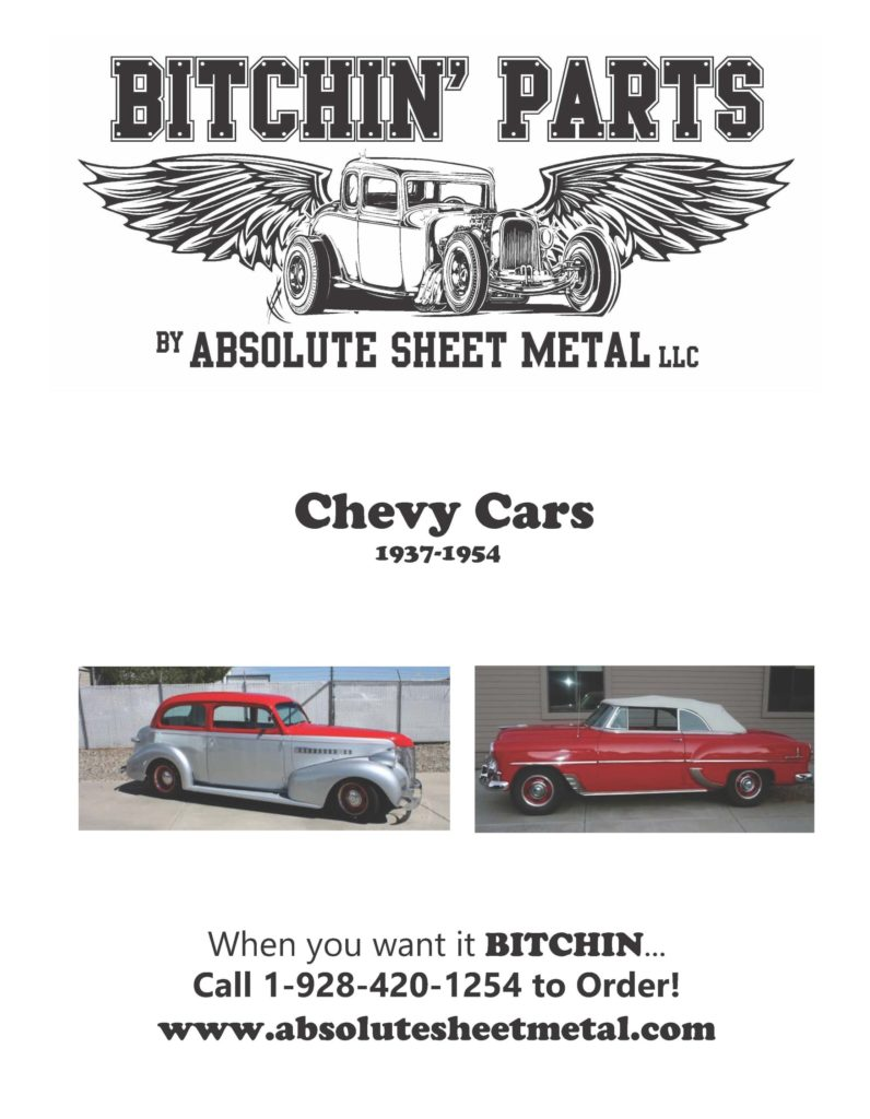 Bitchin Parts Absolute Sheet Metal 1937 - 1954 Chevy Cars