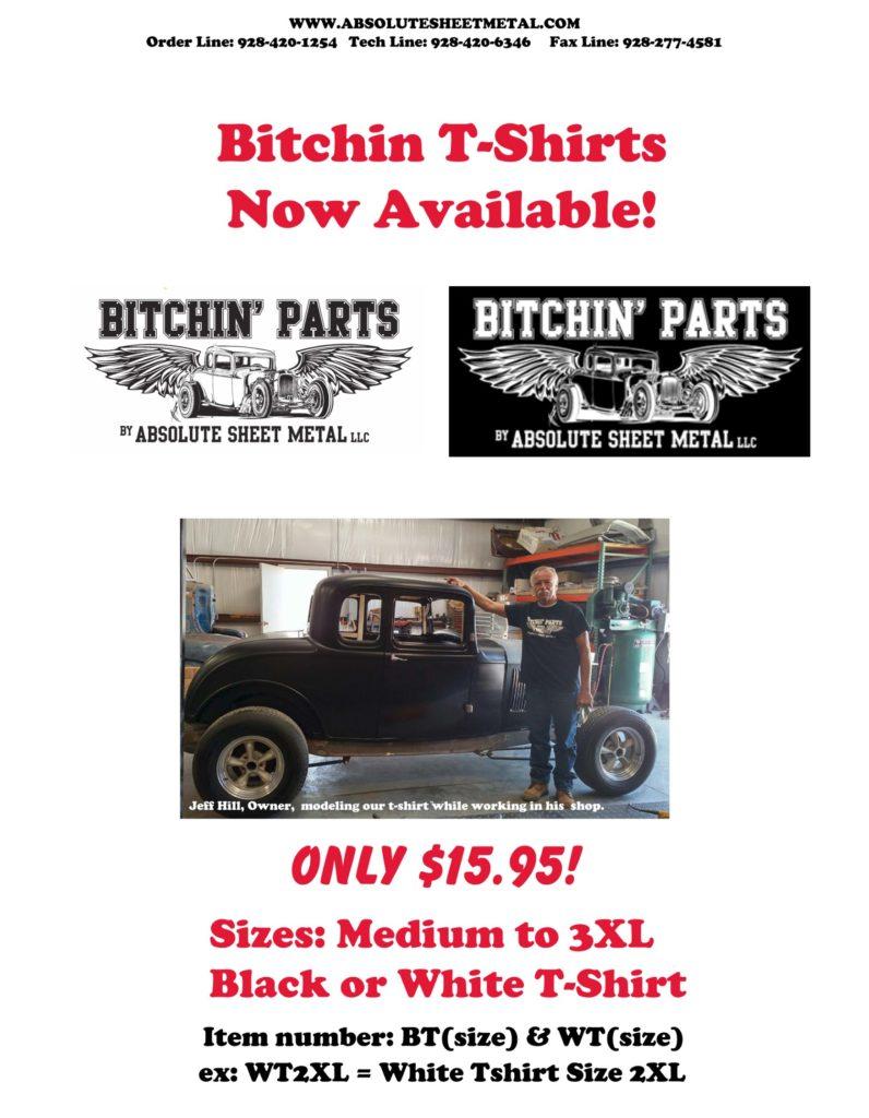 Bitchin Parts Absolute Sheet Metal Bitchin T Shirts