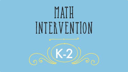 Math Intervention k-2