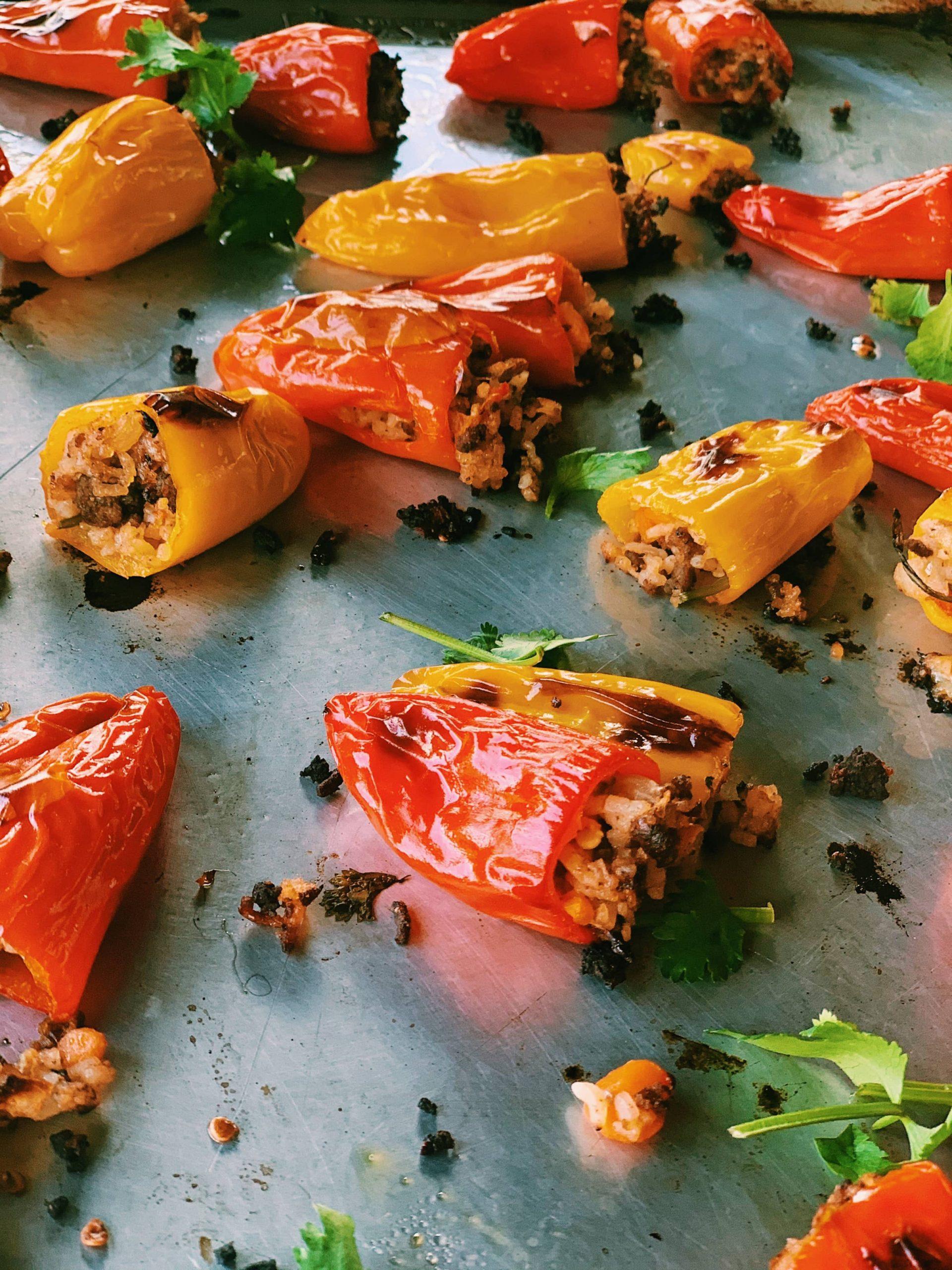 Stuffed Mini Peppers with Thai Fried Rice   Thai-Foodie.com