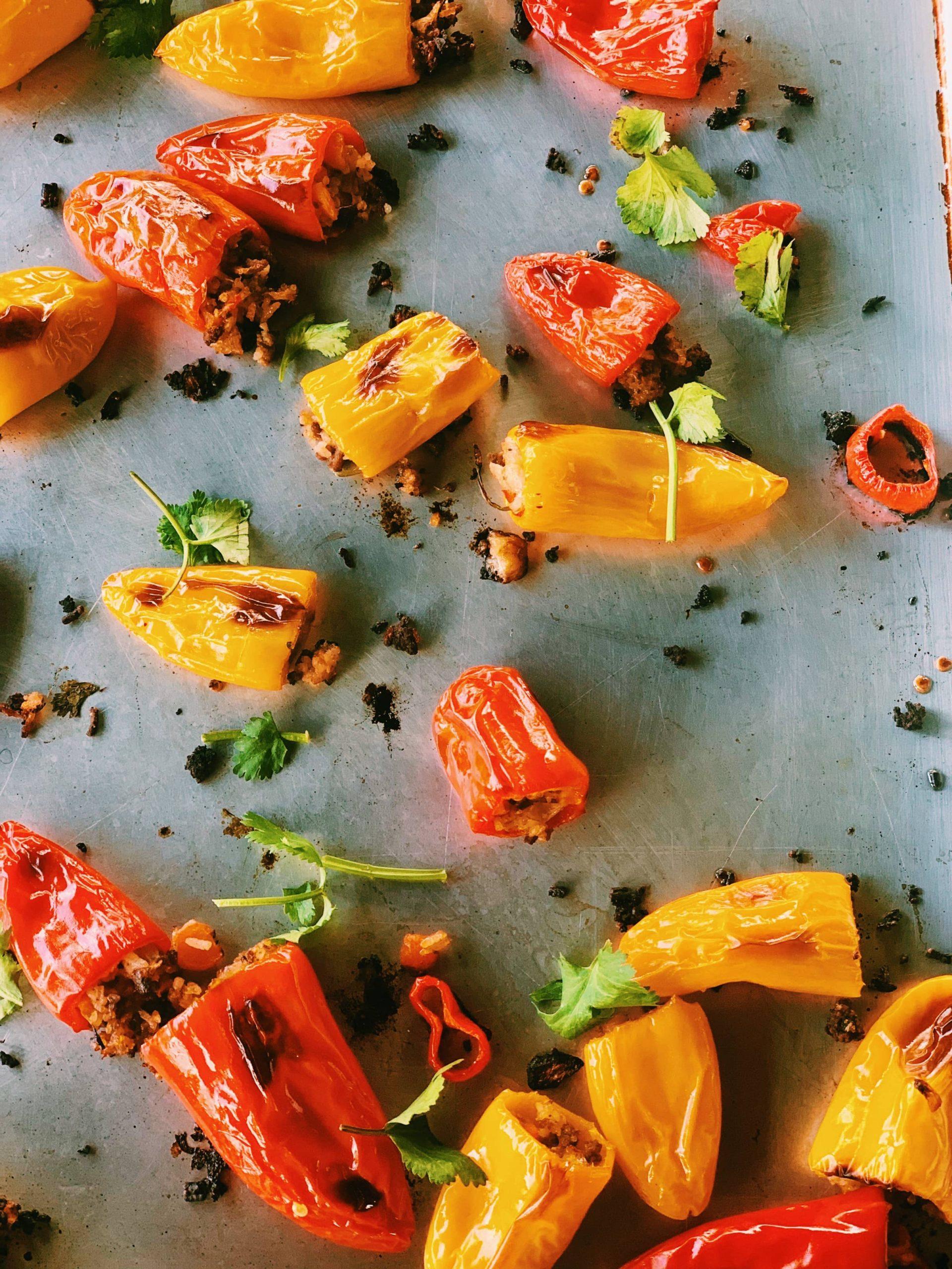 Stuffed Mini Peppers with Thai Fried Rice | Thai-Foodie.com