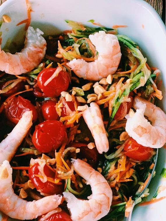 Thai Carrot Cucumber Som Tum | Thai-foodie.com