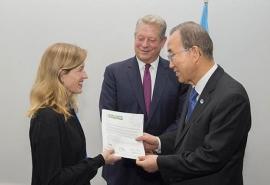 Karenna Gore and Ban Ki Moon