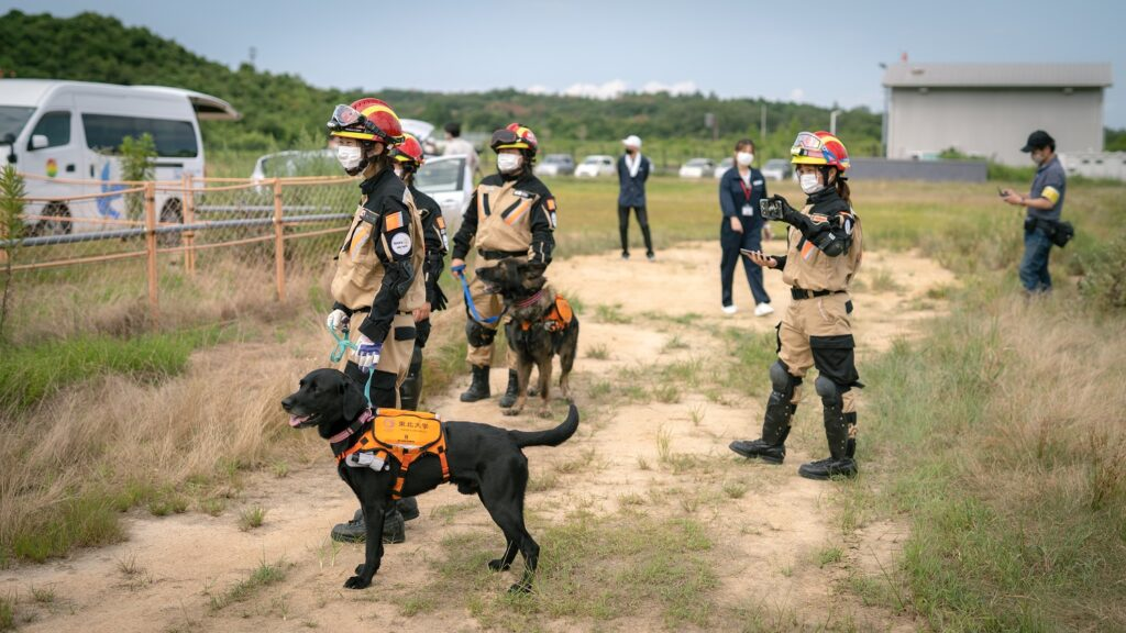 Canines and handlers.
