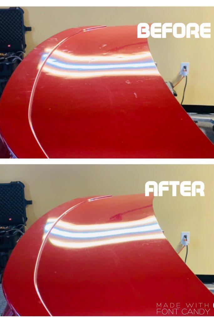 hail damage repair red