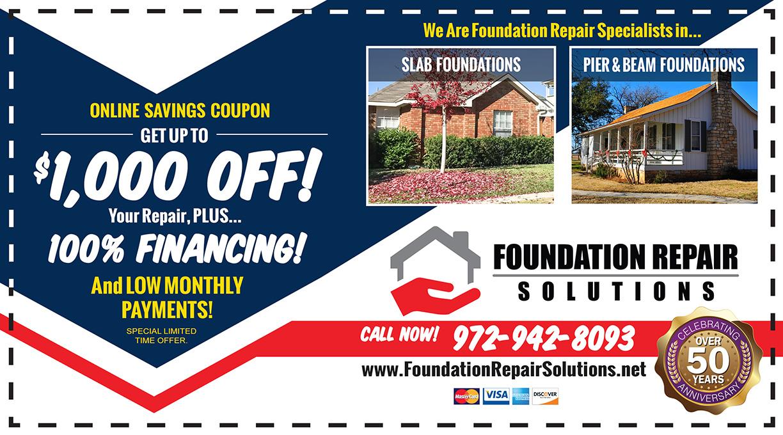foundation repair coupon savings