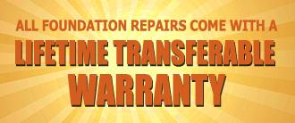 foundation repair lifetime transferrable warranty