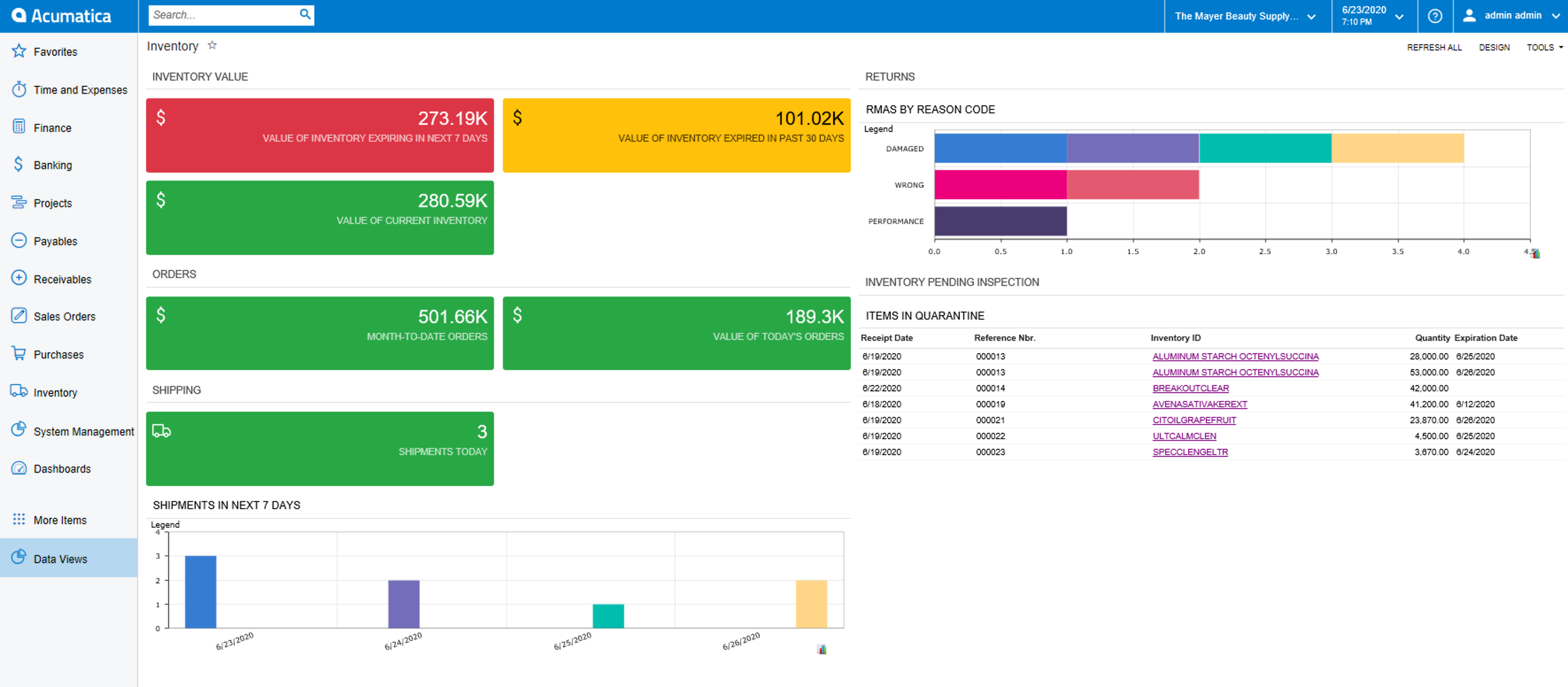 Inventory Manager Dashboard