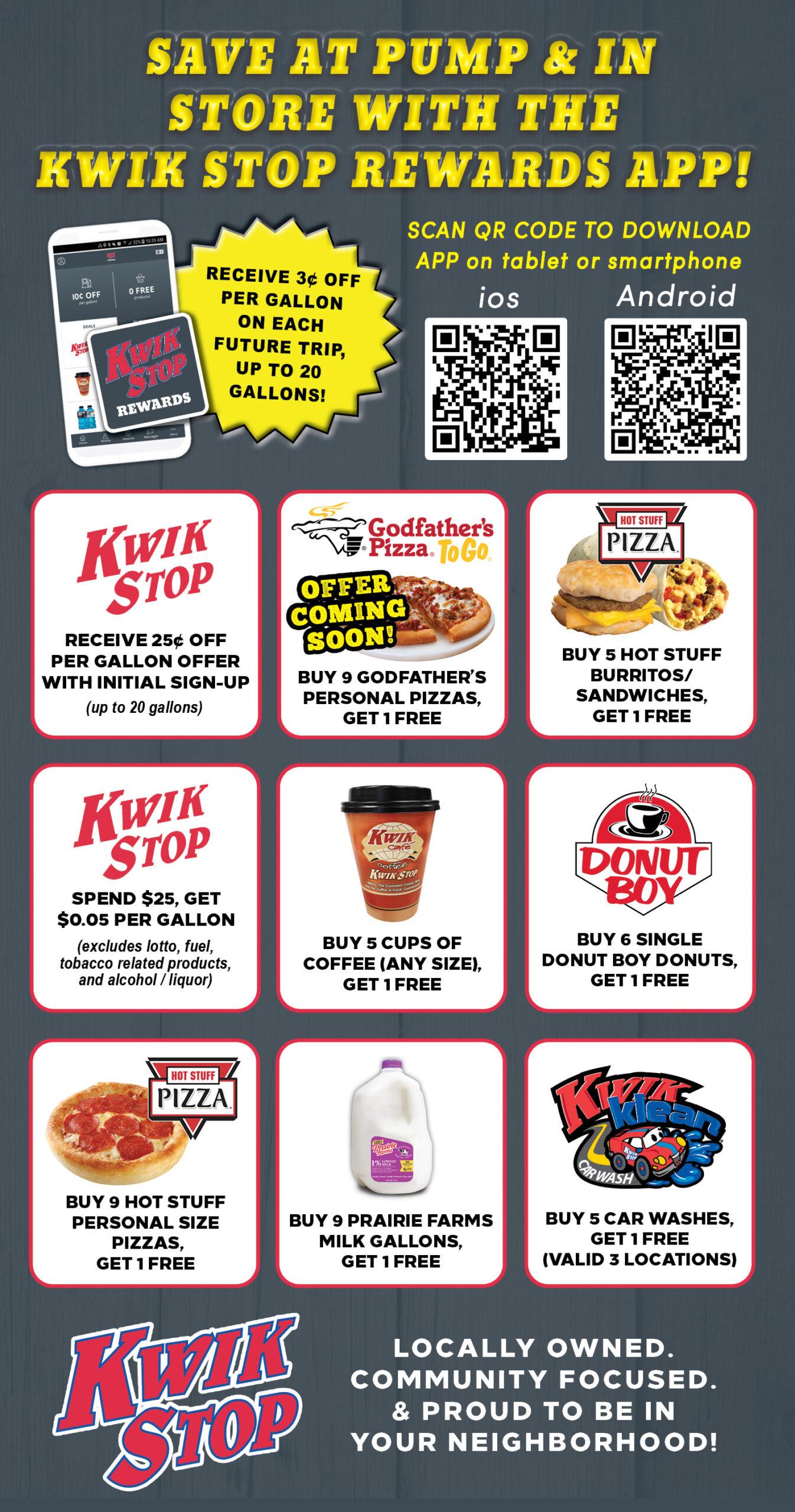 Kwik Stop Rewards Offer