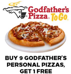 Godfathers Personal Pizza Club Offer for Rewards Program