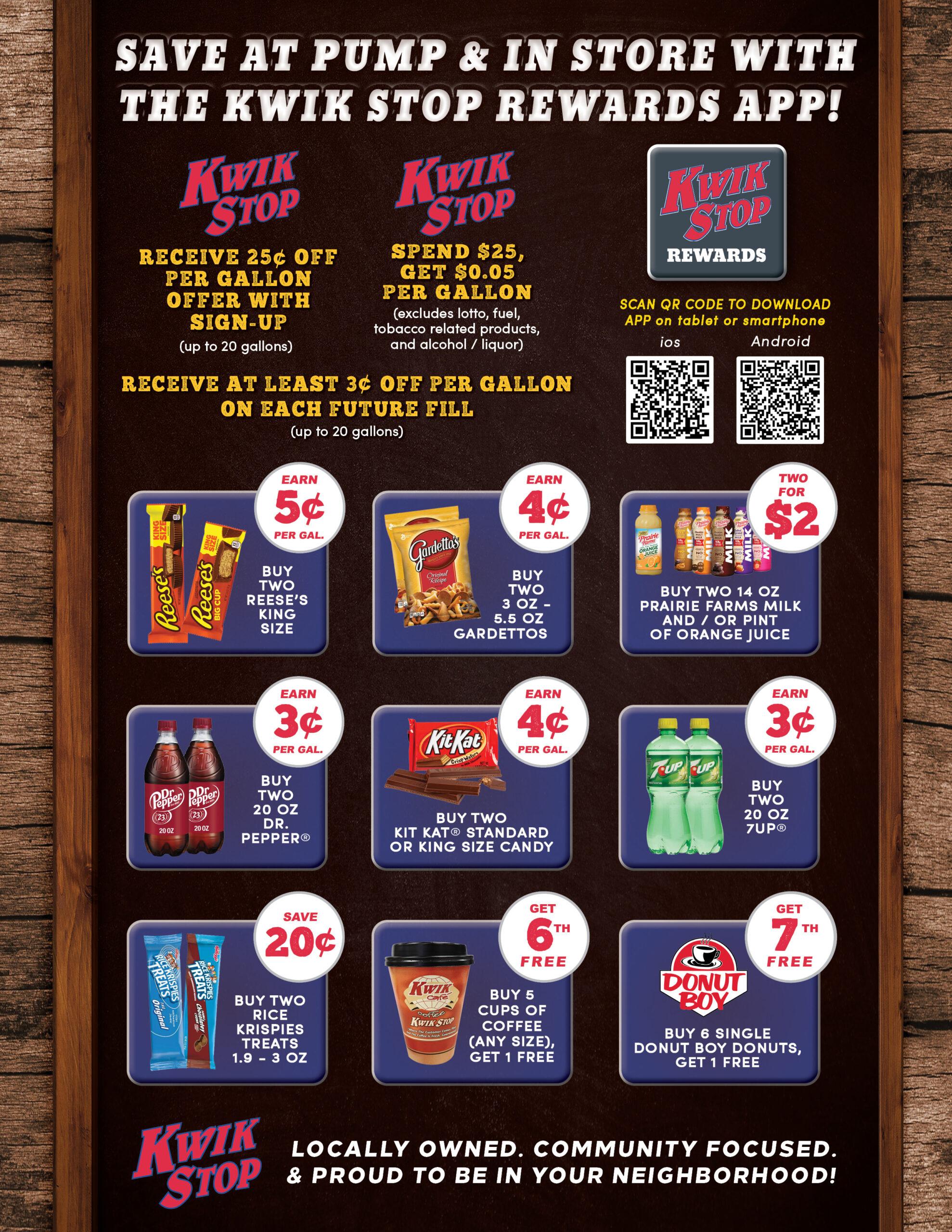 Q4 Kwik Stop Rewards Specials