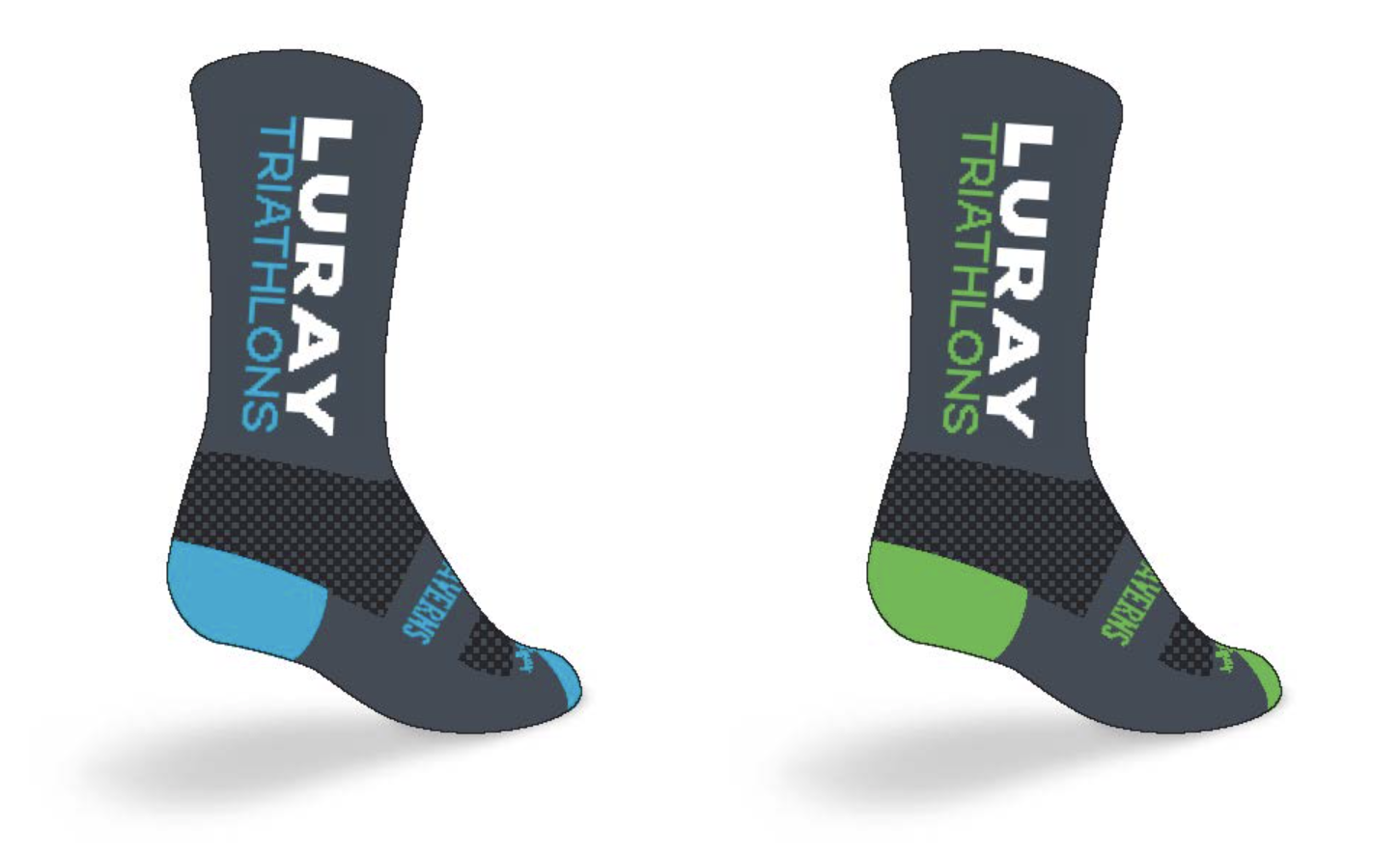 NEW SWAG! Luray Triathlon  Custom Branded Socks