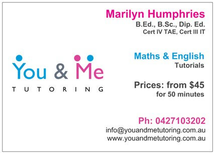 Flyer showing information about You and Me Tutoring