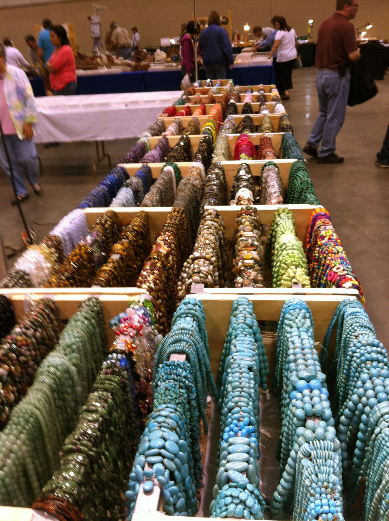 Beads galore at the Huntsville Gem, Jewelry, and Mineral Show