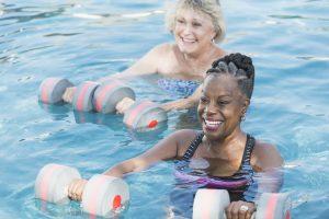 pool exercise, therapeutic, water aerobics, seniors