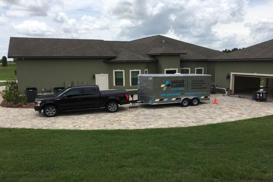 garage floor truck