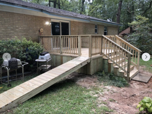 Porch with ramp
