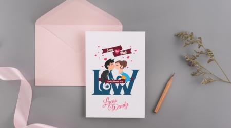 Logo, Design, Creative, Wedding, Couple, card