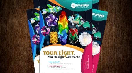 Brochure, Flyer, Creative, Design, Light, Branding, Lots of Lights, color, photography