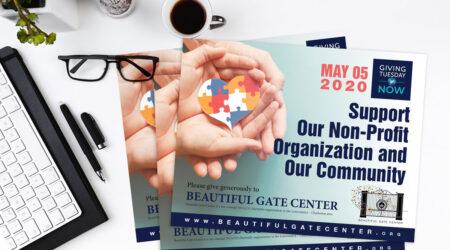 brochure, design, print, Beautiful Gate Center, giving, leaflet, hand, giving