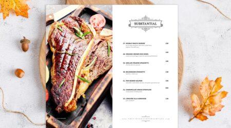creative, menu, design, brochure, flyer, mockup, print, restaurant, kitchen