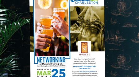 Flyer, Brochure, Design, Creative, Print, SASE Charleston, Munkle, Networking,